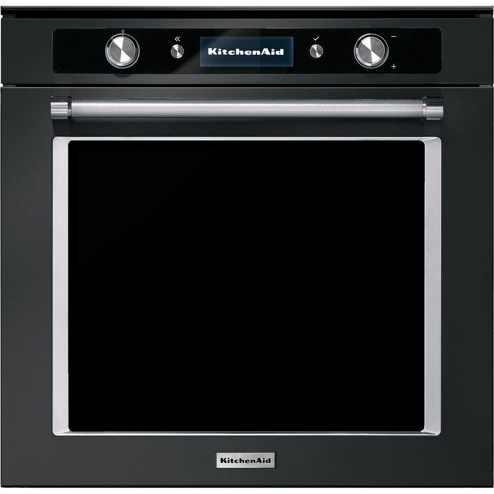 Four a pyrolyse 60 cm en acier inoxydable noir kolspb60602 kitchenaid compressed